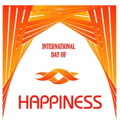 Graphic for International Day of Happiness vector