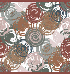 grunge red spiral seamless vector image