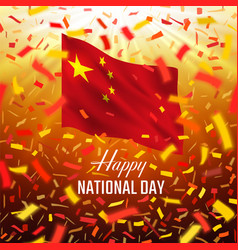 Happy chine day greeting card vector