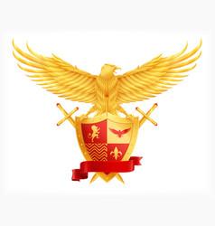 heraldic animal concept vector image