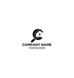 home inspection logo design vector image