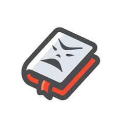 horror book halloween icon cartoon vector image