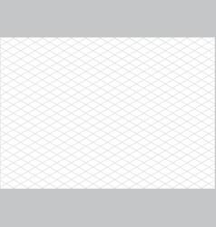 isometric grid paper a4 landscape vector image