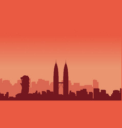 Landscape city tour malaysia and singapore vector