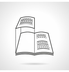 Layout of magazine flat line icon vector image