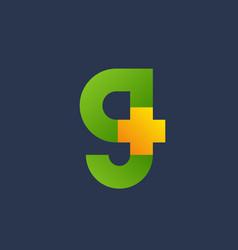 letter g cross plus logo icon design template vector image