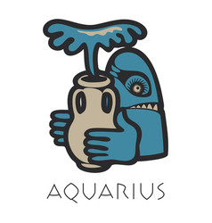Lmage of aquarius astrological sign of zodiac vector