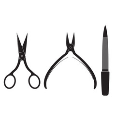 manicure set scissors nippers file vector image