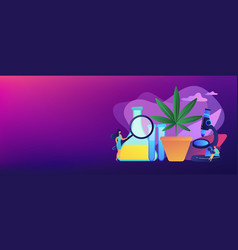 marihuana products innovation concept banner vector image