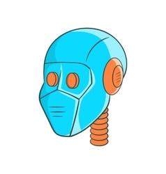Mechanic head icon cartoon style vector