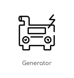 Outline generator icon isolated black simple line vector