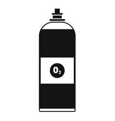 Oxygen spray icon simple style vector