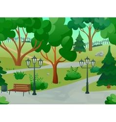 Park landscape vector