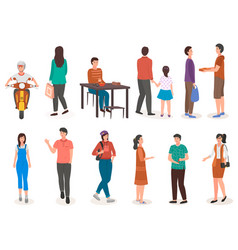 People in various lifestyles businessman vector