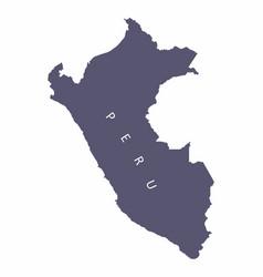 peru silhouette map vector image
