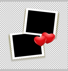 photoframe with hearts vector image