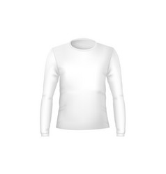 realistic detailed 3d template blank white t vector image