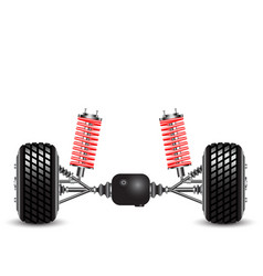rear suspension of the car springs and vector image