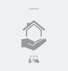 residential services - minimal icon vector image