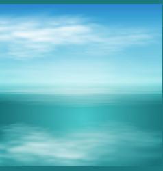 sea landscape in sunny day vector image