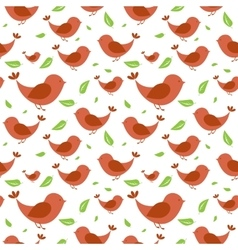 Seamless pattern with birds on light background vector