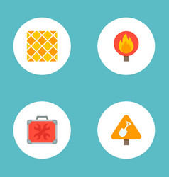 Set of industry icons flat style symbols with tile vector