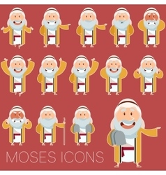Set of Moses icons2 vector