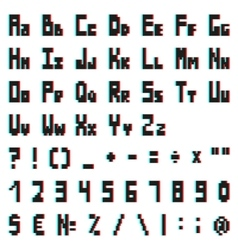 stereo pixel alphabet with Anaglyph effect vector image