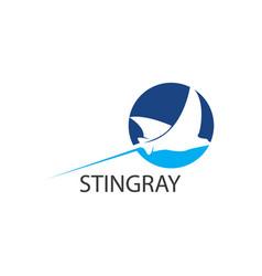 stingray logo flat design vector image