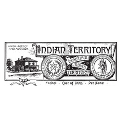The banner for indian territory in the united vector