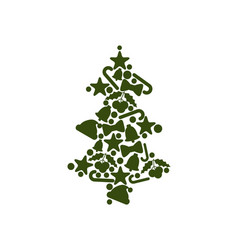 Tree made of symbolic icons vector