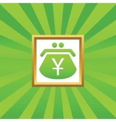 Yen purse picture icon vector image
