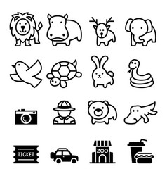 zoo icon vector image