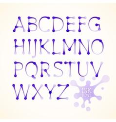ink uppercase alphabet vector image