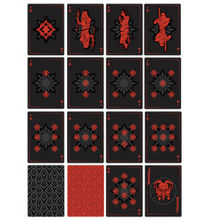 playing cards fantasy vector image vector image