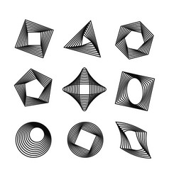 set of spirograph style geometric shapes vector image