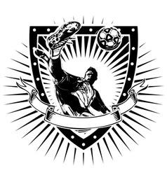 soccer shield vector image