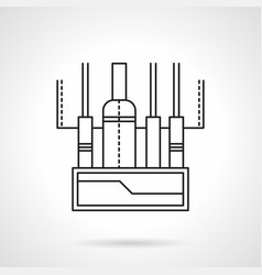 audio mixing console flat line icon vector image