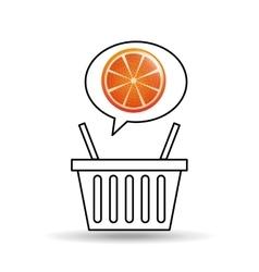 basket market sweet orange icon design vector image