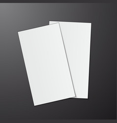 blank business cards on grey background vector image