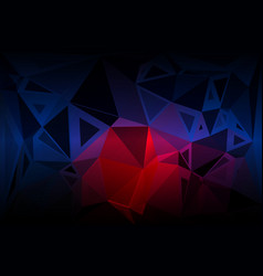 Deep blue and red random sizes low poly background vector