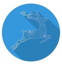 Flat icon of deer vector image vector image