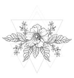 Hand drawn boho tattoo vector image