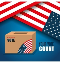 icon voting box election presidential graphic vector image
