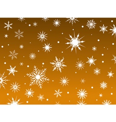 snowflakes orange vector image