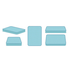comfortable mattress for sleeping in different vector image vector image