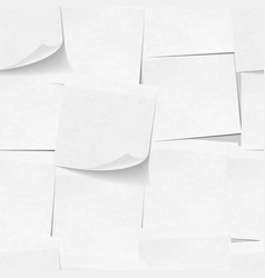 Realistic white sticky notes seamless pattern vector