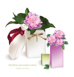 spring delicate flowers bouquet card beautiful vector image
