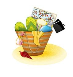 beach bag vector image