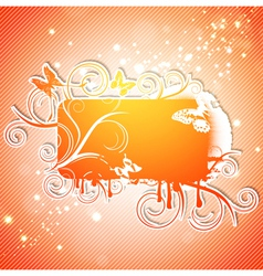 Butterfly Abstract Frame vector image